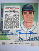 Duke Snider 1954 Red man tab vg ex signed creased