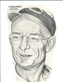 1940's Bill McKechnie Cincinnati Reds - original sporting News Art Work
