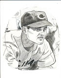 Eddie Joost - Cincinnati Reds - original sporting News Art Work