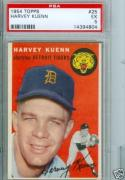 Topps 1954 Harvey Kuenn #25 Ex 5 PSA Graded
