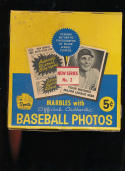 1960 Leaf  Baseball Photo Cards box wrapper & marble in exmt shape