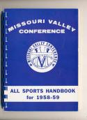 1958 Missouri Valley Basketball Football Conference Press Media Guide