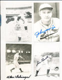 Charles Gehringer Detroit Tigers real photo signed Post Card