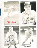Earl Averill Cleveland Indians  real photo signed Post Card