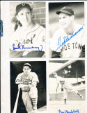 Hank Greenberg Detroit Tigers signed real photo Post Card