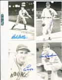 Lou Boudreau Cleveland Indians real photo signed Post Card