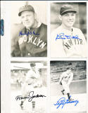 Travis Jackson New york Giants  real photo signed Post Card