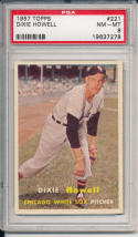 1957 topps Dixie Howell 221 White Sox psa 8