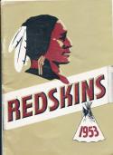 1953 Washington redskins press guide