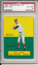 1964 topps stand-up Don Lock senators psa 6 em