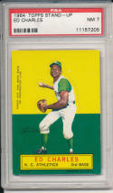 1964 topps stand-up Ed Charles KC Athletics psa 7 nm