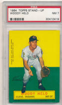 1964 topps stand-up Woody Held Indians psa 7 nm