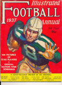 Illustrated Football Annual 1937 yearbook publication em