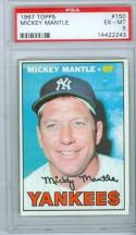 1967 Topps Mickey Mantle psa 6 #150