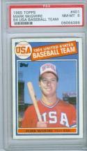 1985 Topps Mark McGwire psa 8  #401