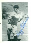 Riggs Stephenson Chicago cubs Autographed Baseball Photo