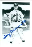 Tony Cuccinello Brooklyn Dodgers Autographed Baseball Photo