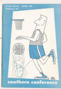 1958 Southern Conference Basketball Press Media guide Jerry West west viriginia