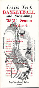 1958 Texas Tech Basketball Press Media guide