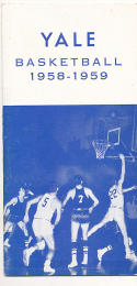 1958 Yale University Basketball Press Media guide