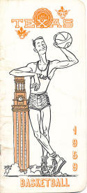 1959 Texas University Basketball Press Media guide