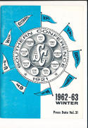 1962 Southern Conference Basketball Press Media guide West Virginia