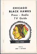 1962 - 1963 Chicago Black hawks Fact Book  press Media guide