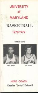 1978 University of Maryland Larry Gibson Eric Shrader Charles Driesell College B
