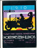 10/18 1930 Northwestern vs Illinois Football Program