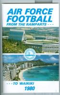 Football Media Guide 1980 -1981 Air Force University nm -Box23