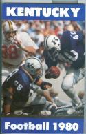 Football Media Guide 1980 -1981 Kentucky University nm CFBmg12
