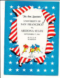1942 9/27 ASU Arizona State vs USF san francisco football program