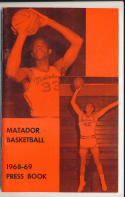 1968 Northridge College Basketball Press Media Guide nm