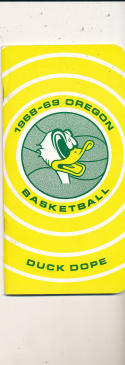 1968 - 1969 Oregon  Basketball press Media guide