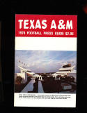 1978 Texas A&M  football Press Media Guide CFBmg10