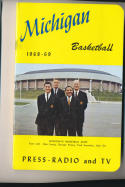 1968 - 1969 Michigan Basketball press Media guide