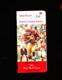 1968 USC & Indiana Rose Bowl football Press Media Guide OJ Simpson