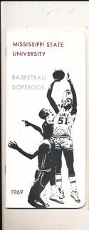 1968 - 1969 Mississippi state Basketball press Media guide
