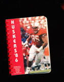 1986 nebraska  football Press Media Guide Danny Noonan