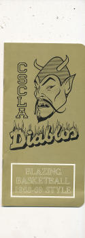 1968 - 1969 CSC Los Angeles Diablos Basketball press Media guide