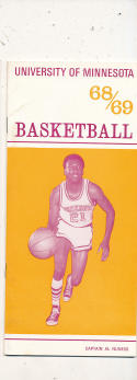 1968 - 1969 Minnesota Basketball press Media guide