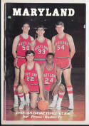 1968 - 1969 Maryland Basketball press Media guide