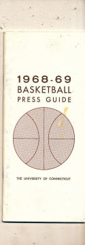1968 - 1969 Connecticut Basketball press Media guide