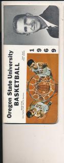 1968 - 1969 oregon State Basketball press Media guide