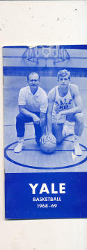1968 - 1969 Yale Basketball press Media guide