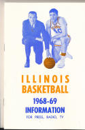 1968 - 1969 Illinois Basketball press Media guide