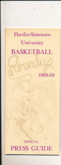 1968 - 1969 Hardin Simmons  Basketball press Media guide