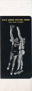 1968 - 1969 San Jose State Basketball press Media guide