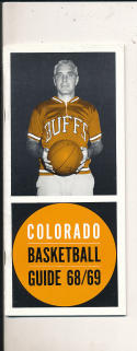 1968 - 1969 Colorado Basketball press Media guide