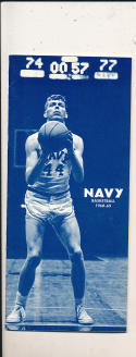 1968 - 1969 Navy Basketball press Media guide